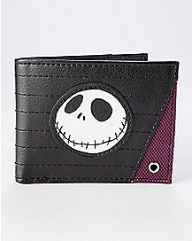 Maroon Nightmare Before Christmas Bifold Wallet