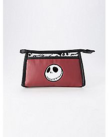 Maroon Nightmare Before Christmas Cosmetic Bag