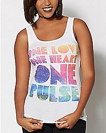 One Heart One Love One Pulse Tank Top