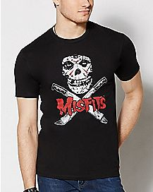 Skull and Machete Misfits T Shirt
