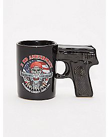 2nd Amendment Gun Handle Coffee Mug - 20 oz.