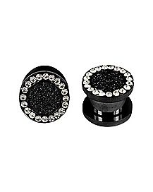 Glitter Cz Tunnel 2 Pack- Black