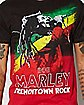 Bob Marley Rasta Dip Dye T Shirt