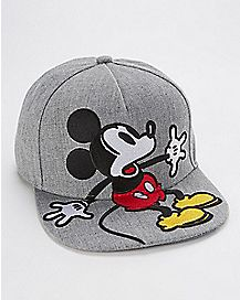 Gray Vintage Mickey Snapback Hat