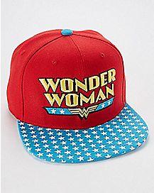 Star Brim Wonder Woman Snapback Hat