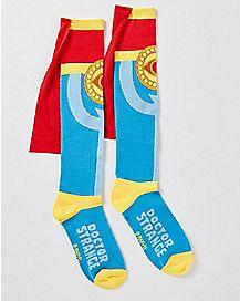 Caped Doctor Strange Knee High Socks