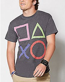 Playstation Buttons T Shirt