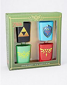 Legend of Zelda Square Shot Glass 4 Pack