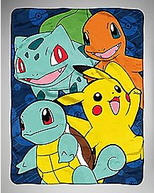 Starter Friends Pokemon Fleece Blanket