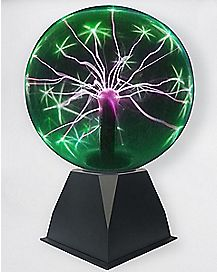 Sound Responsive Green Plasma Ball