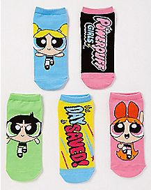 Powerpuff Girls No Show Socks - 5 pack