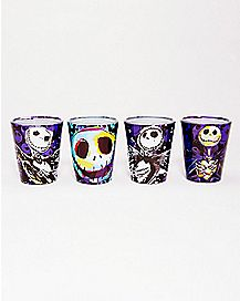 Blue Art Nightmare Before Christmas Shot Glass Set 1.5 oz