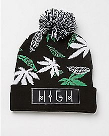 High Pom Beanie Hat