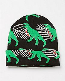 Drinking Dinosaur Beanie Hat