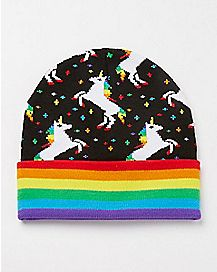 Rainbow Unicorn Beanie Hat