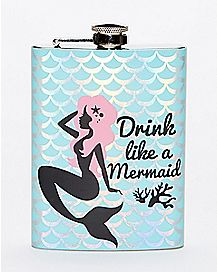 Drink Like A Mermaid Flask - 8 oz.