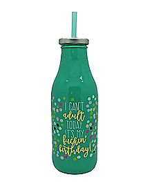 I Can't Adult Birthday Milk Bottle - 16 oz.