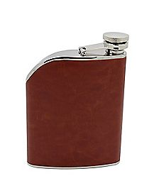 Leather Wraped Flask - 8 oz.