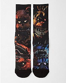 Five Nights at Freddy's Crew Socks