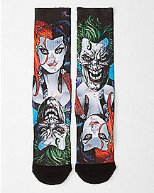Harley Quinn Joker Sublimated Crew Socks