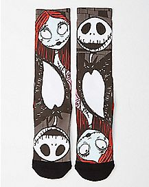 Nightmare Before Christmas Jack and Sally Crew Socks