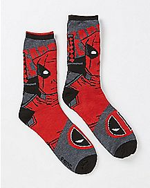Reversible Deadpool Crew Socks