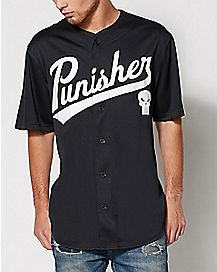 Punisher Baseball Jersey - Marvel Comics