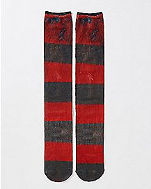 Striped Freddy Krueger Crew Socks