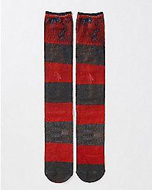 Striped Freddy Krueger Crew Socks