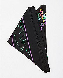 Black Sugar Skull Bandana