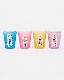 Dragon Ball Z Shot Glass 4 Pack - 1.5 oz.