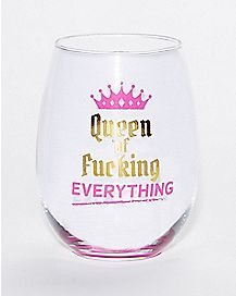 Queen Of Everything Wine Glass - 19 oz