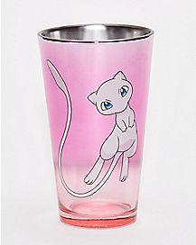 Mew Pokemon Pint Glass - 16 oz