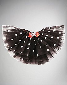 Black and White Polka Dot Baby Skull Tutu