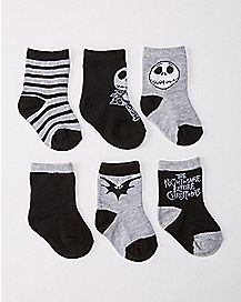 Nightmare Before Christmas Baby Socks 6 Pack