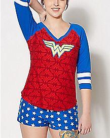 Wonder Woman Shirt and Shorts Set