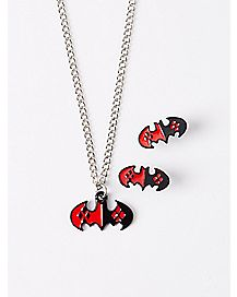 Harley Quinn Necklace and Earring Set
