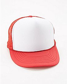 Red & White Trucker Hat