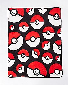 Pokemon Pokeball Fleece Blanket