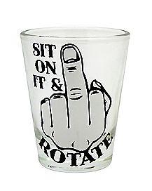 Sit On It Shot Glass