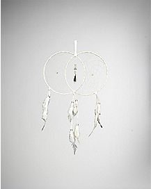Double Crystal Dream Catcher