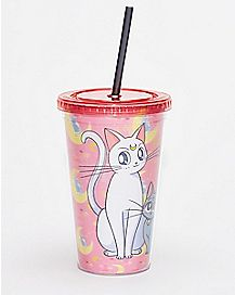 Cats Sailor Moon Cup With Straw - 16 oz.