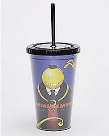 Korosensei Assassination Classroom Cup With Straw - 16 oz.