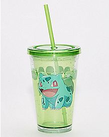 Bulbasaur Pokemon Cup with Straw - 16 oz.
