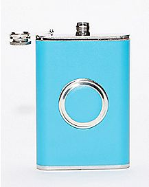 Blue Flask and Shot Set - 8 oz.
