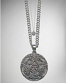 Pentagram Coin Necklace