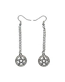 Pentagram Dangle Earrings