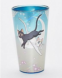 Sailor Moon Luna and Artemis Pint Glass - 16 oz.
