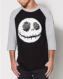 Jack Nightmare Before Christmas Raglan T Shirt