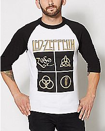 Symbols Led Zepplin Raglan T Shirt